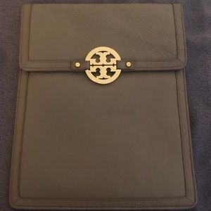 Tory Burch leather tablet case.
